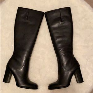 NIB Sam Edelman Black Leather Boots 7.5M.